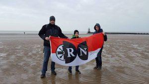RN an der Mersey-Mündung, Liverpool (ca. 710 km)