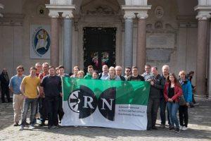 RN am Ende der Wallfahrt vor San Sebastinao, Rom (1.116 km)