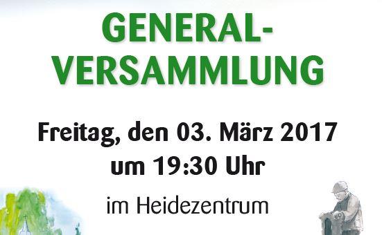 Generalversammlung am 3. März 2017