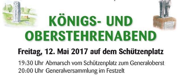 Königs- und Oberstehrenabend 2017